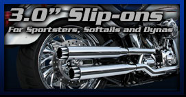 Motorcycle Exhaust 3 inch Slip Ons