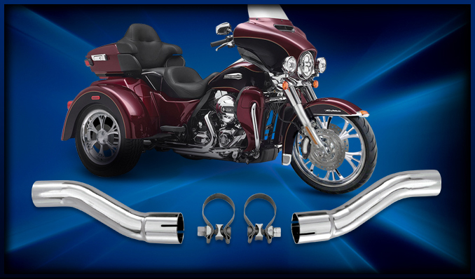 Rcxexhaust True Dual Header Adapter Kit For Hd Triglide Trike Models 0914 With This Rcx You Can Run Our Duals Or Power Max: Harley Trike Exhaust At Woreks.co